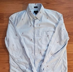 J Crew casual button up. Like new